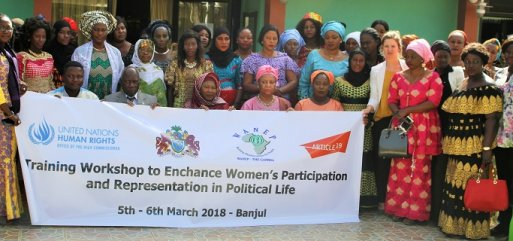 The Gambia : training 49 aspiring female candidates to the 2018 Local Government Elections